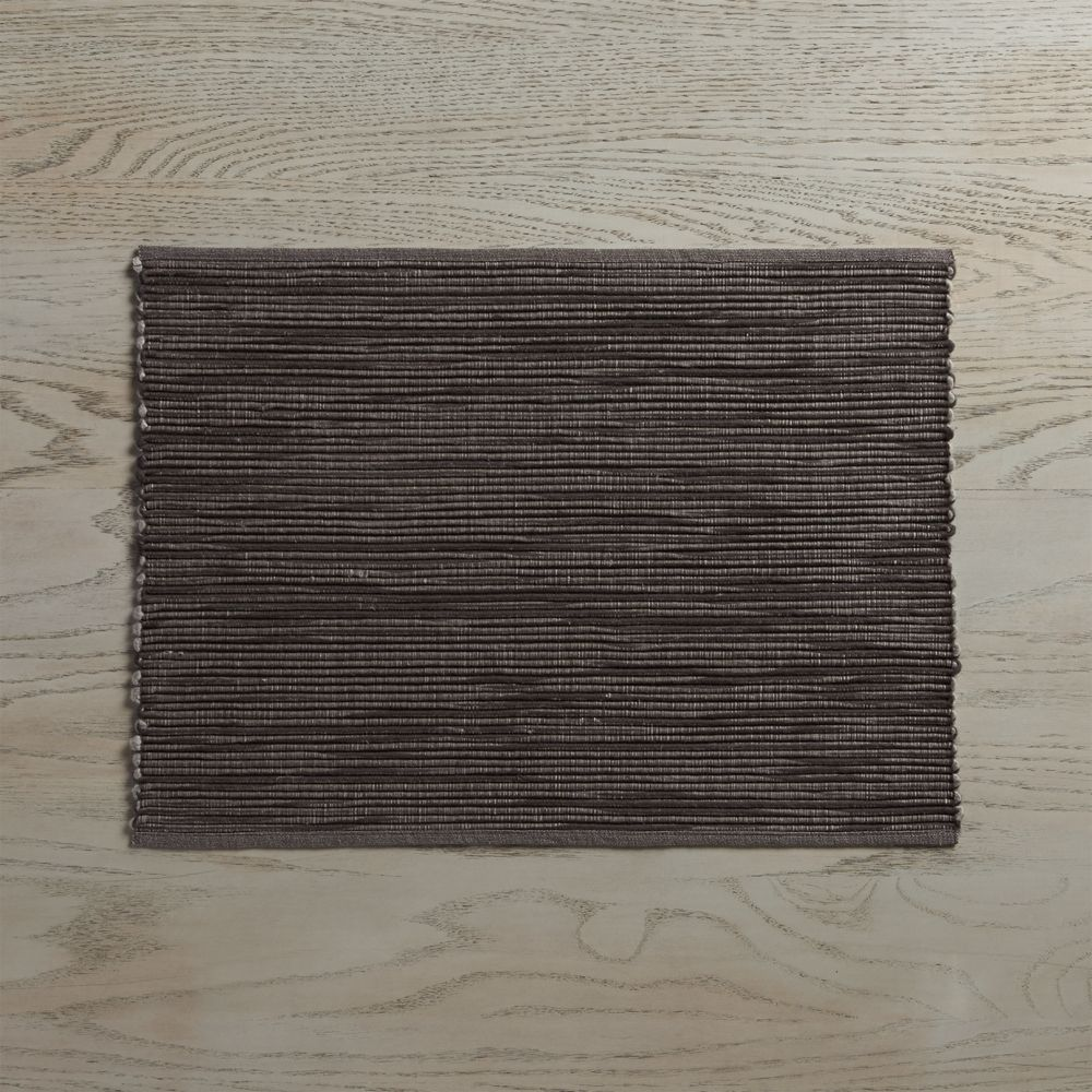 Sonoma Grey Placemat - Crate and Barrel