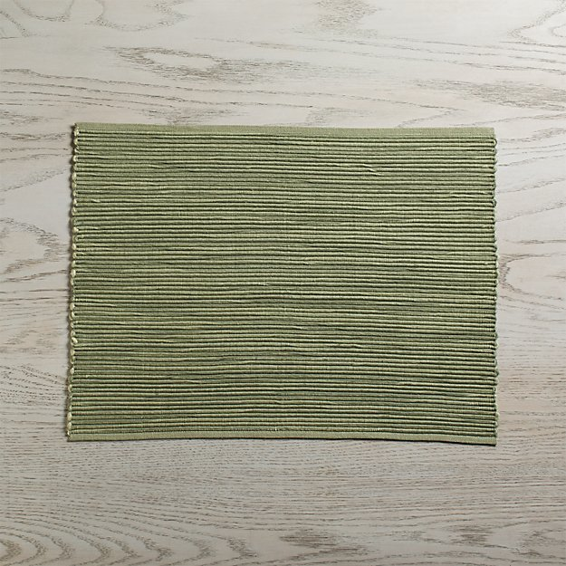 Sonoma Sage Green Placemat Crate And Barrel