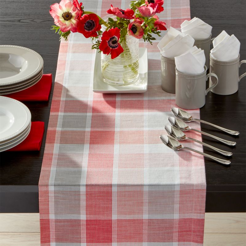 Sorbet plaid 120 table runner crate and barrel for 120 table runners