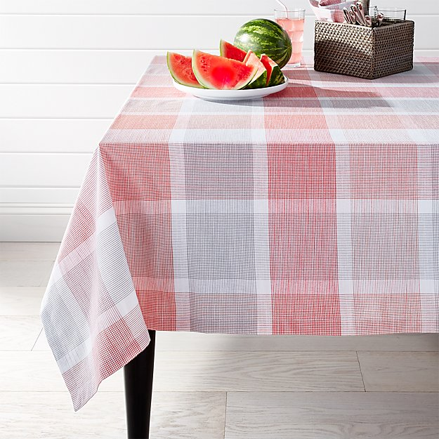 Sorbet Plaid Tablecloth