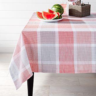 "Sorbet Plaid 60""x90"" Tablecloth"