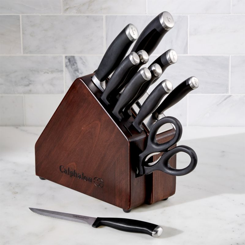 Calphalon Space Saving Sharpin 12 Piece Knife Block Set