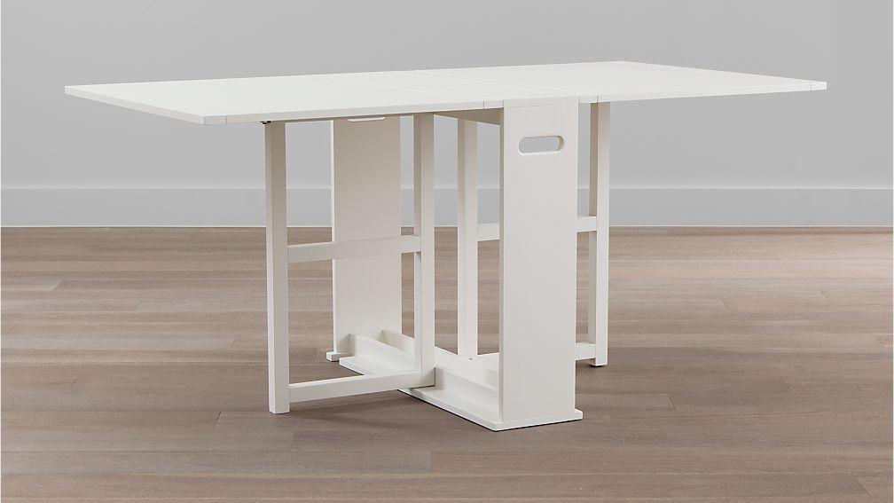 Span White Gateleg Dining Table