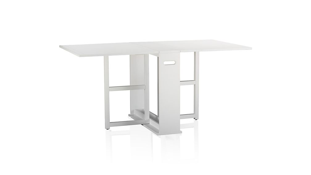 span white dining table walmart plastic folding fold up ikea kitchen and chairs