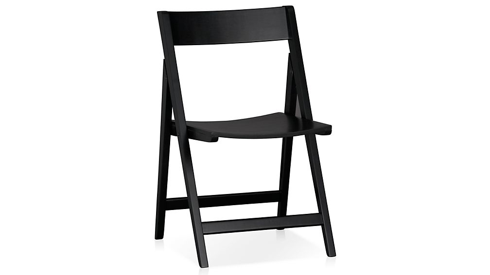 ... Spare Black Folding Wood Dining Chair ...
