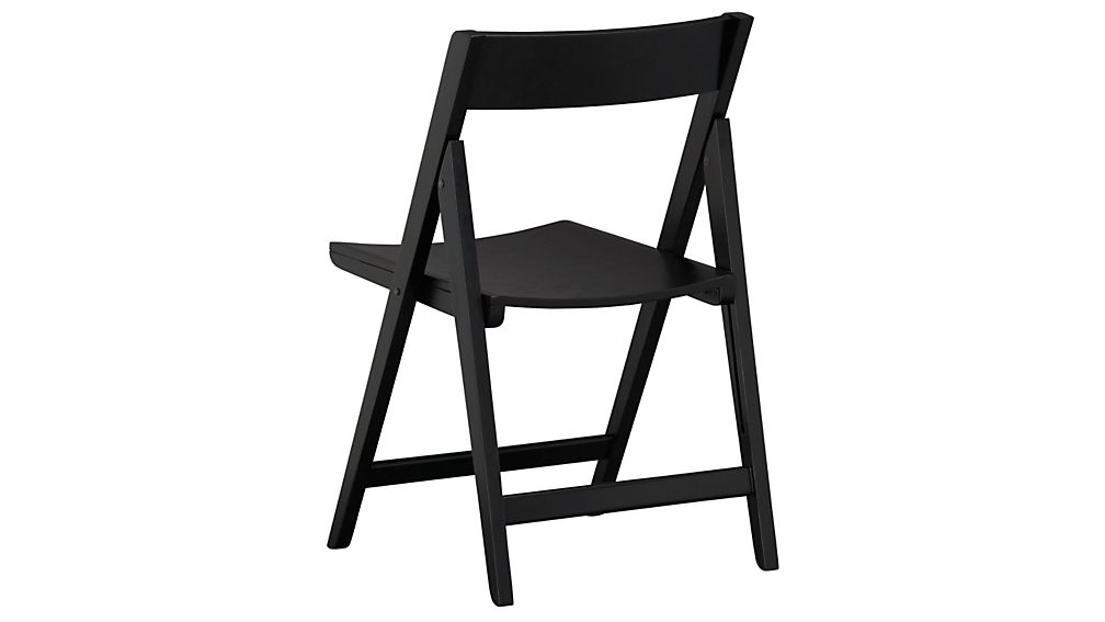 Spare Black Folding Wood Dining Chair