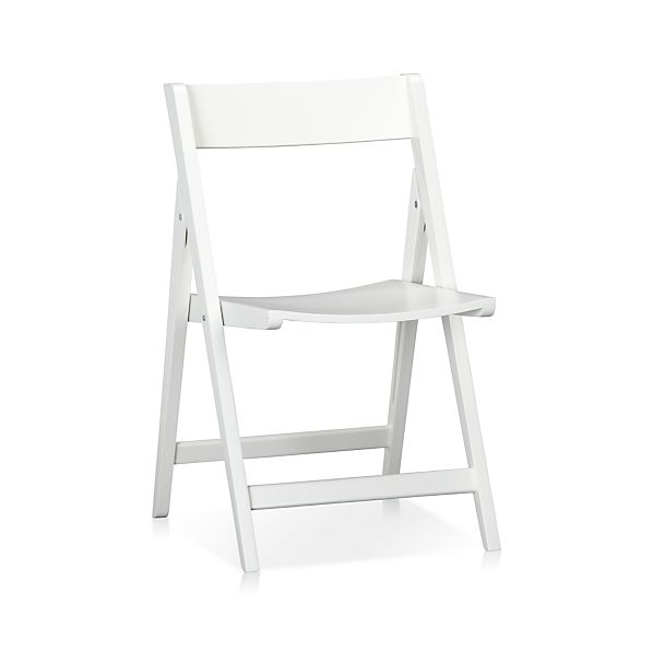 Spare White Folding Chair