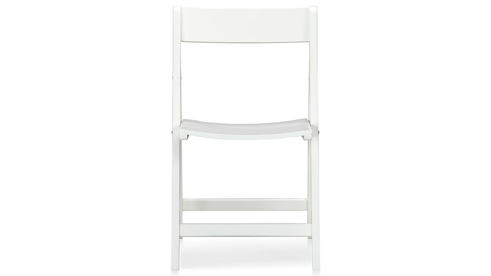 Spare White Folding Wood Dining Chair