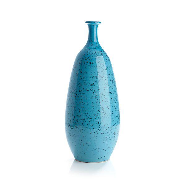 Specks Turquoise Vase