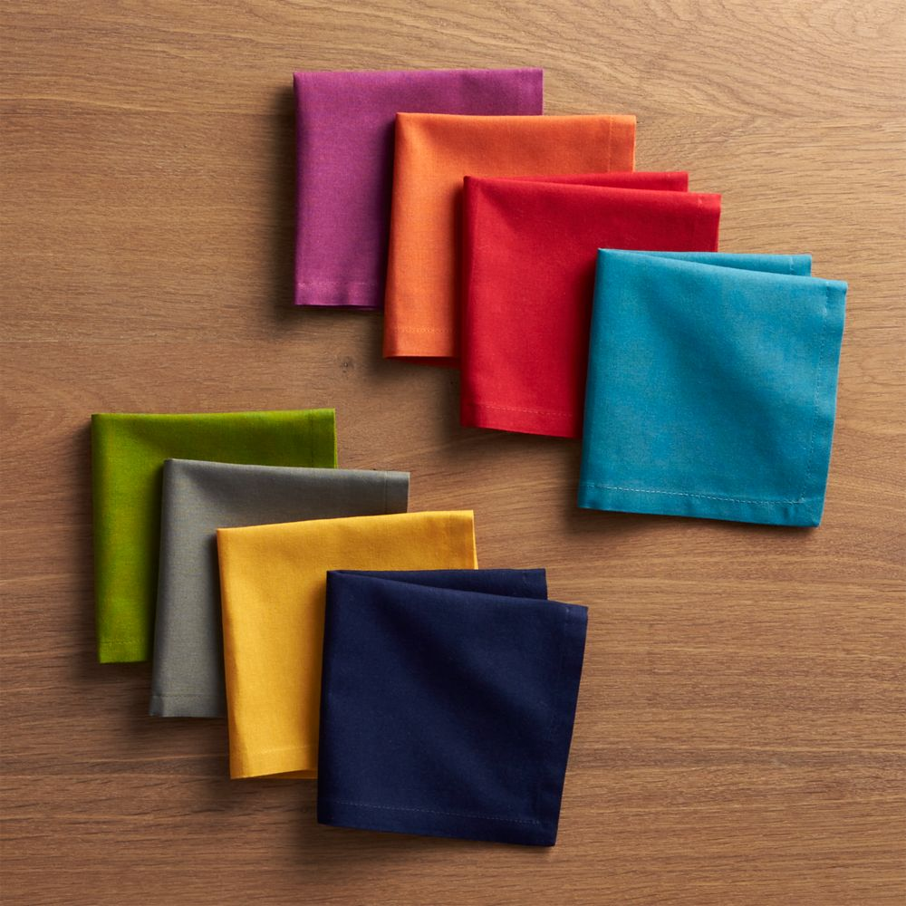 Set of 8 Spectra Cloth Cocktail Napkins - Crate and Barrel