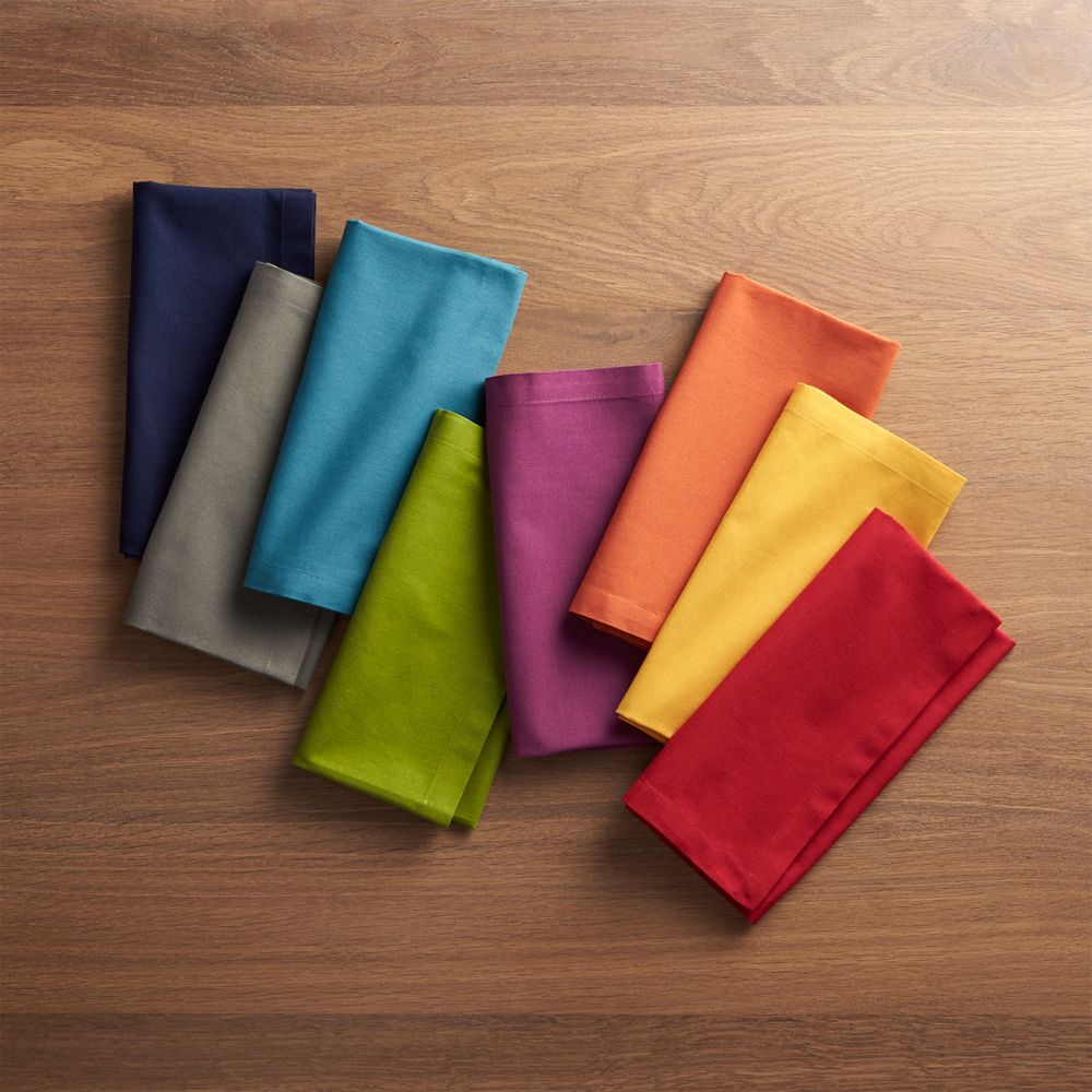 Set of 8 Spectra Cloth Dinner Napkins - Crate and Barrel