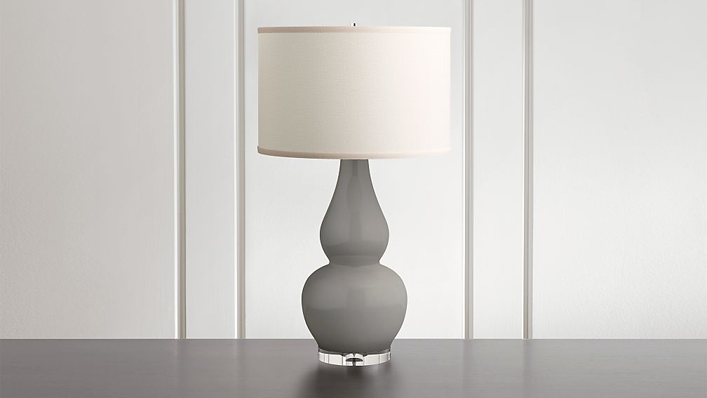 Spectrum Table Lamp with Double Gourd Ceramic and  Acrylic Base - Image 1 of 6