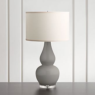 spectrum table lamp with double gourd ceramic and acrylic base - Living Room Lamps
