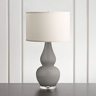 Spectrum Table Lamp With Double Gourd Ceramic And Acrylic Base