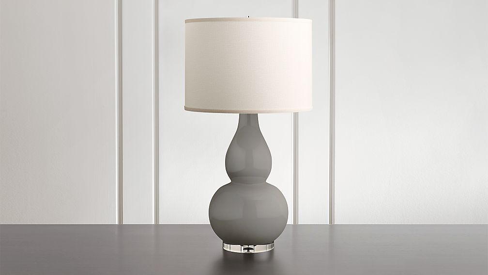 Spectrum Large Table Lamp With Double Gourd Ceramic And Acrylic Base Reviews Crate And Barrel