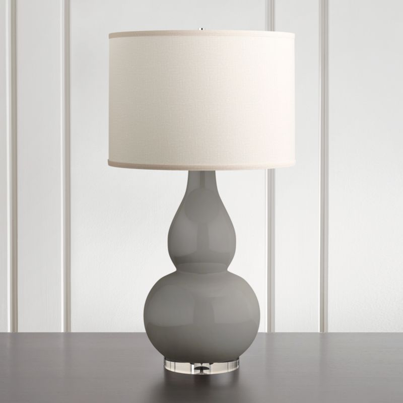 home lighting lamps chandeliers and more light fixtures crate spectrum large table lamp double gourd ceramic and acrylic base