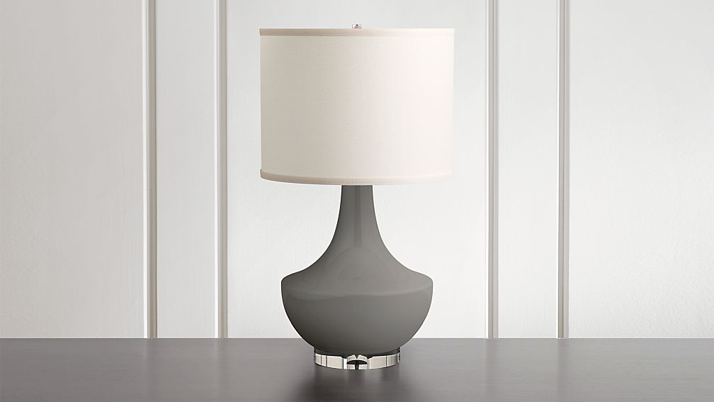Spectrum Table Lamp with Flared Ceramic and Acrylic Base - Image 1 of 7