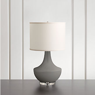 Spectrum Table Lamp with Flared Ceramic and Acrylic Base