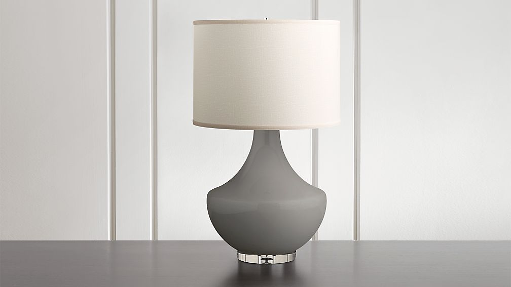 Spectrum Large Table Lamp with Flared Ceramic and Acrylic Base - Image 1 of 7