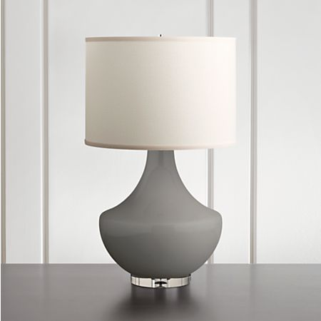 Spectrum Large Table Lamp With Flared Ceramic And Acrylic Base Crate Barrel