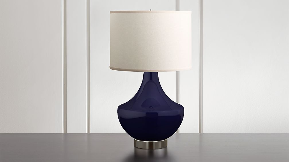 Spectrum Large Table Lamp with Flared Ceramic and Metal Base - Image 1 of 8