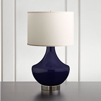 Spectrum Large Table Lamp with Flared Ceramic and Metal Base