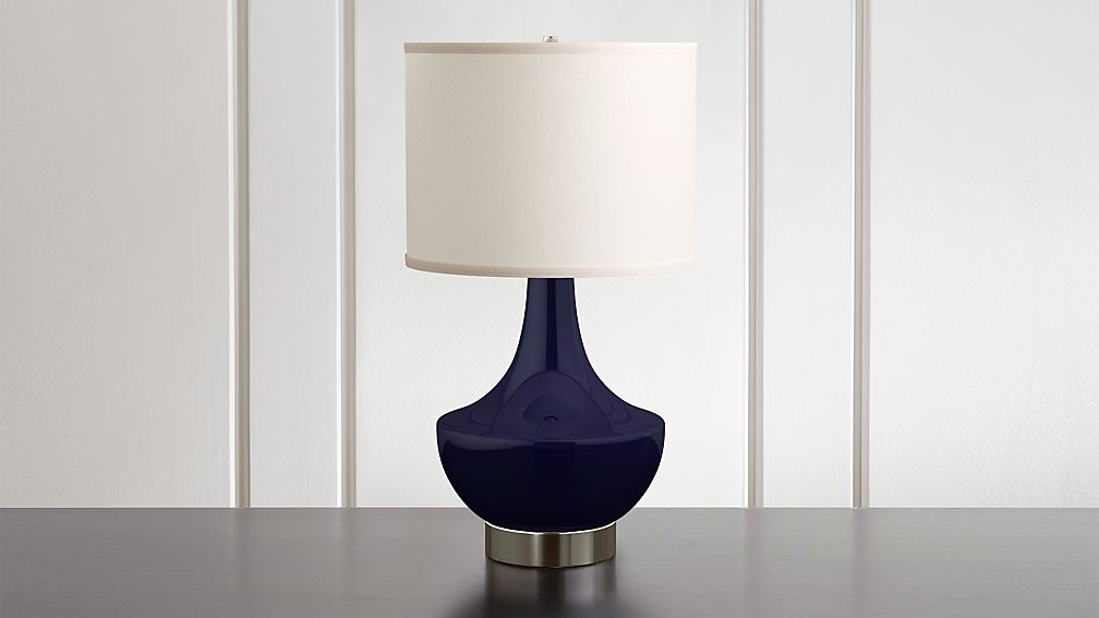 Spectrum Table Lamp With Flared Ceramic And Metal Base Reviews Crate And Barrel