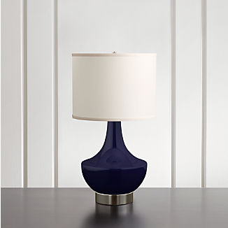 Spectrum Table Lamp with Flared Ceramic and Metal Base
