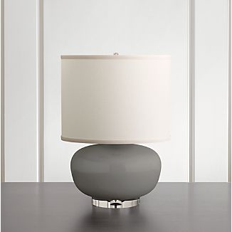 Spectrum Table Lamp With Oblong Ceramic And Acrylic Base