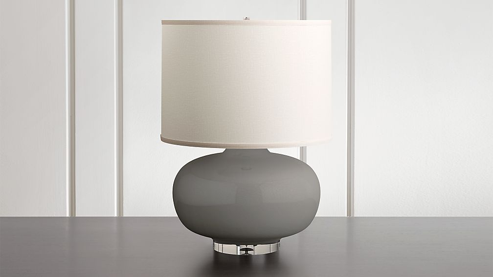 Spectrum Large Table Lamp with Oblong Ceramic and Acrylic Base - Image 1 of 9
