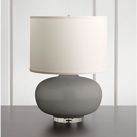 Spectrum Large Table Lamp With Oblong Ceramic And Acrylic Base Crate Barrel