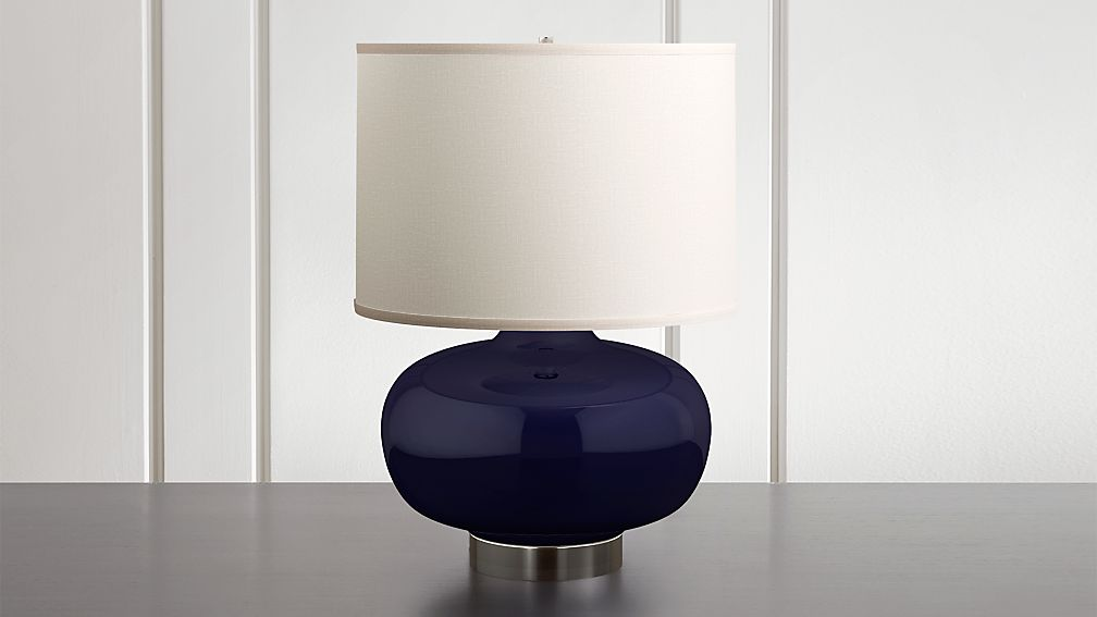 Spectrum Large Table Lamp with Oblong Ceramic and Metal Base - Image 1 of 6
