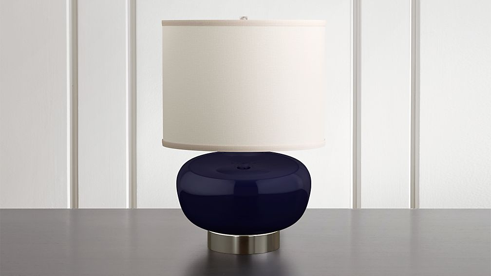 Spectrum Table Lamp with Oblong Ceramic and Metal Base - Image 1 of 7
