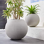 View product image Sphere Light Gray Planters - image 1 of 8