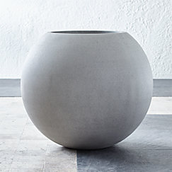 Sphere Large Light Grey Planter