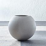 Sphere Small Light Grey Planter