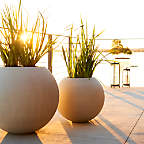 View product image Sphere Light Gray Planters - image 6 of 8