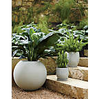 View product image Sphere Light Gray Planters - image 5 of 8