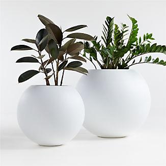 Sphere White Planters