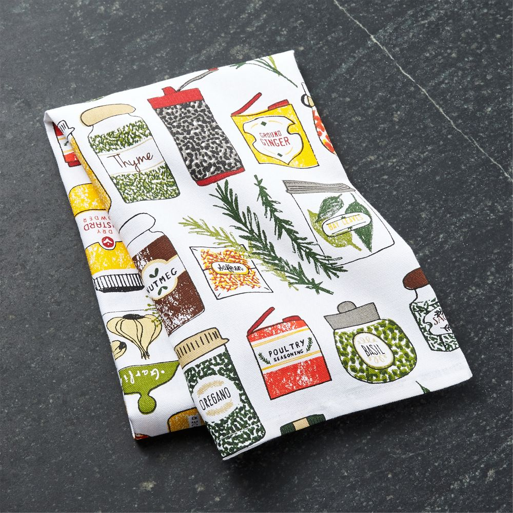 Spice World Dish Towel - Crate and Barrel
