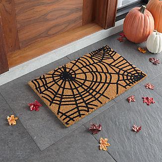 """Spiderweb Halloween Doormat 18""""x30"""""""