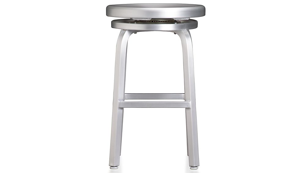 Spin Swivel Backless Bar Stool