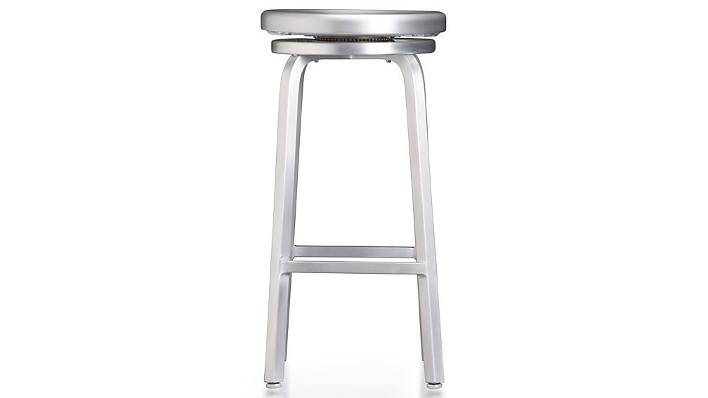 Spin Swivel Backless Bar Stool Reviews Crate And Barrel