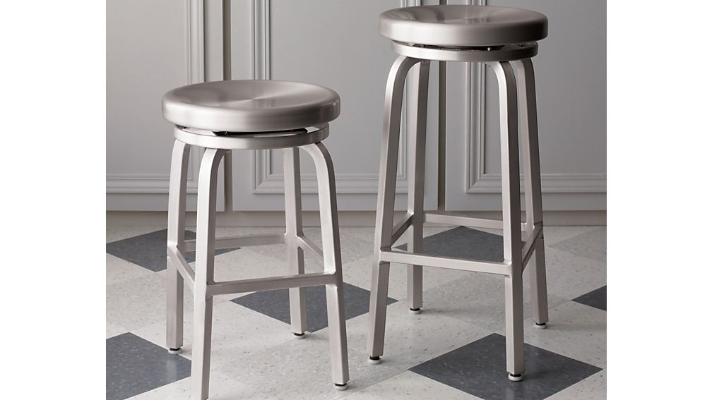 ... Spin Swivel Backless Bar Stool ...  sc 1 st  Crate and Barrel & Spin Swivel Backless Bar Stool | Crate and Barrel islam-shia.org
