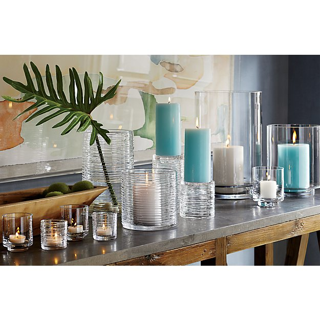 Spin Small Glass Hurricane Candle Holder Vase In Vases