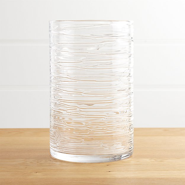 Spin Large Glass Hurricane Candle Holder Vase Crate And