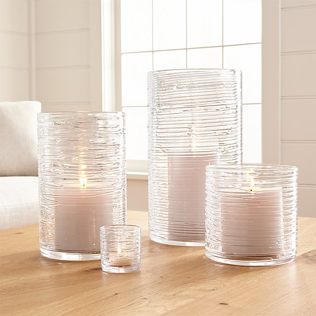 Etched Glass Barrell Candle Holdrr