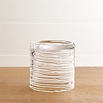 Spin Small Glass Pillar Candle Holder