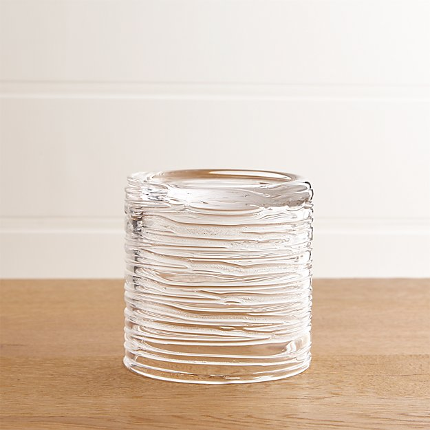 Spin Small Glass Pillar Candle Holder Crate And Barrel