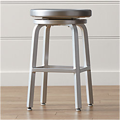 Spin Alloy Bar Stool Cushion Reviews Crate And Barrel